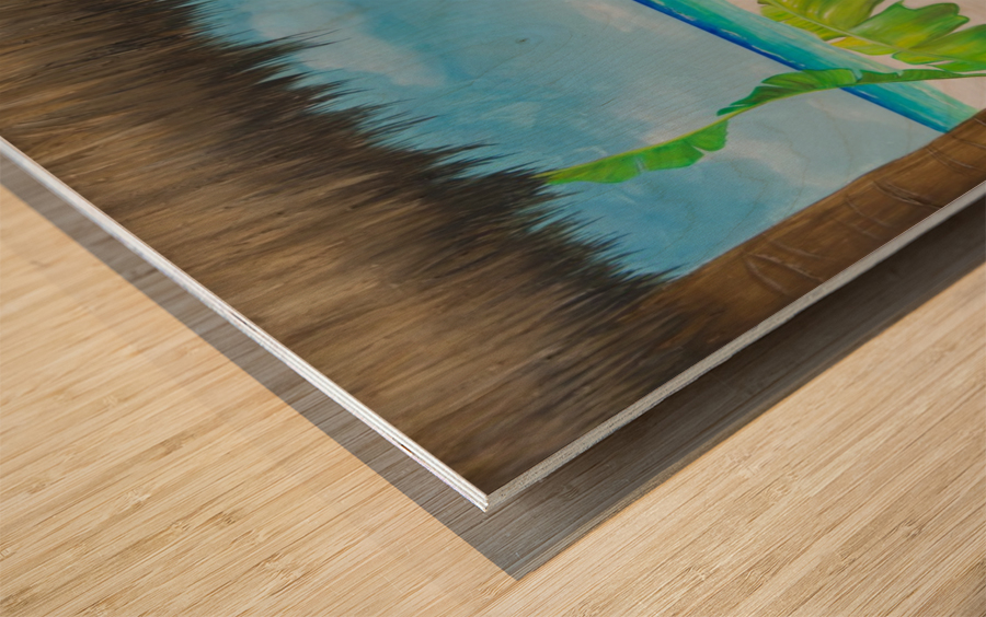 Beach tiki  Wood print