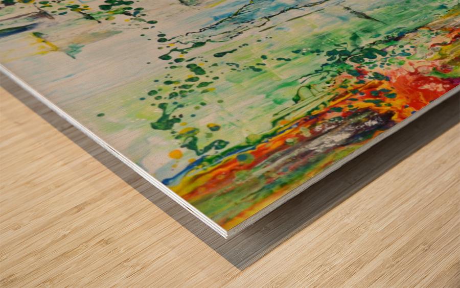 Dream Waterfall Wood print