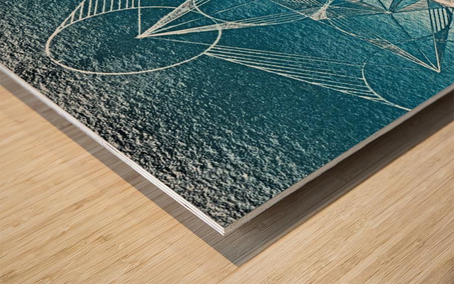 Cube of Metatrone Handdrawing Wood print