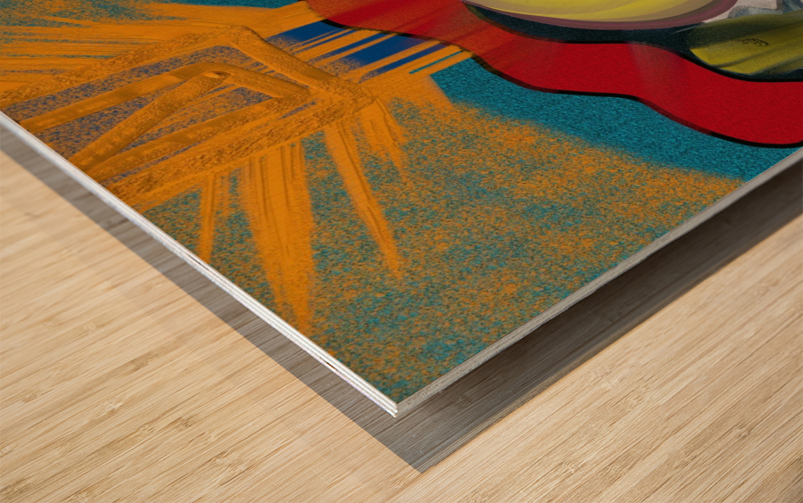 Looking  Wood print