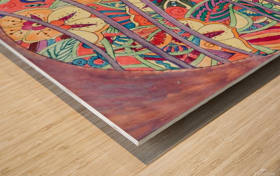 Atmosphere  Wood print