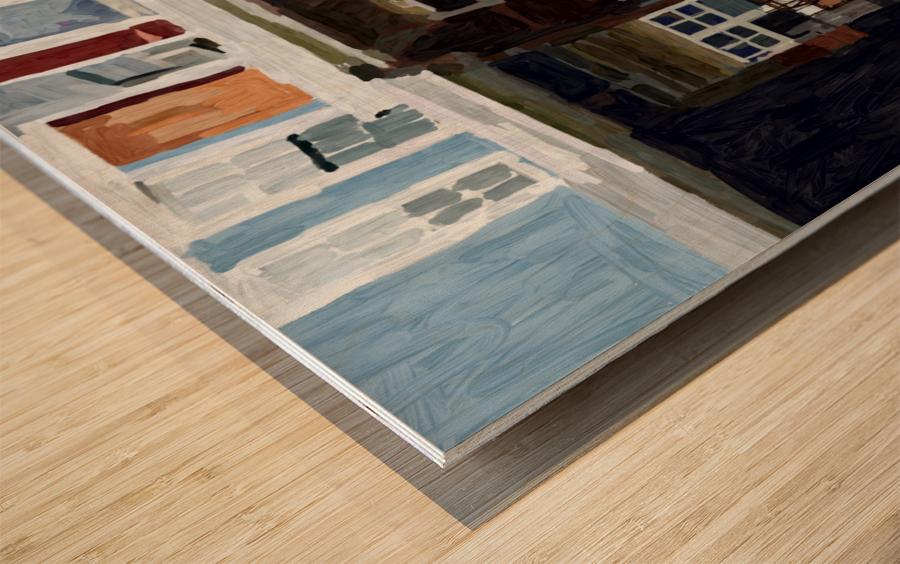 Hampden Rowhouse Wood print