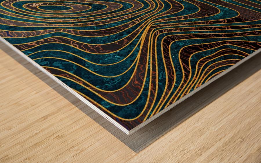Marble waves Wood print