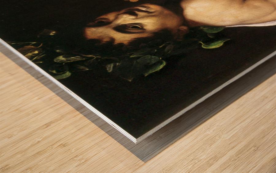 Young Sick Bacchus Wood print