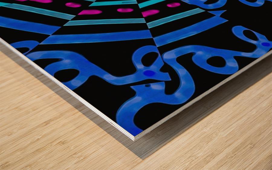 Modern Ornate Abstract Artwork Wood print