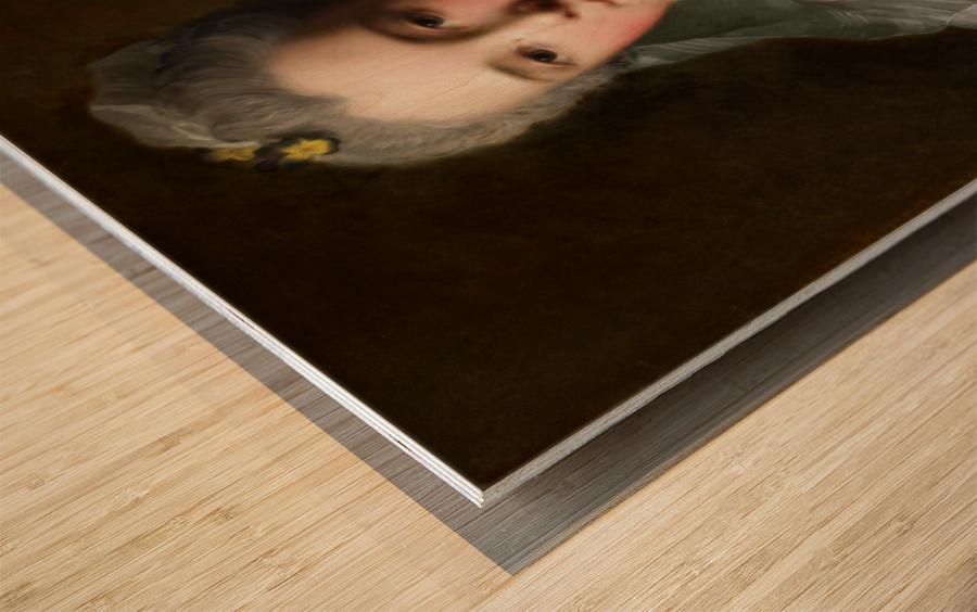 Manon Balletti by Jean-Marc Nattier - Old Masters Prints Wood print