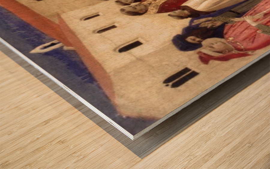 Lamentation over St. Francis Wood print