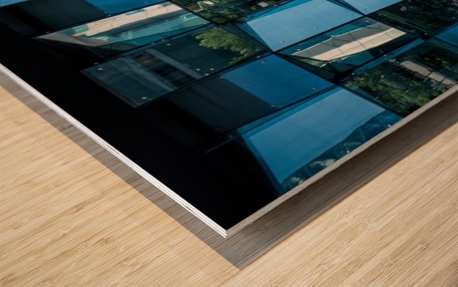 Blue Mirrors Wood print