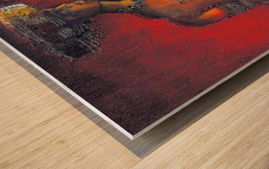 Red Massai Wood print