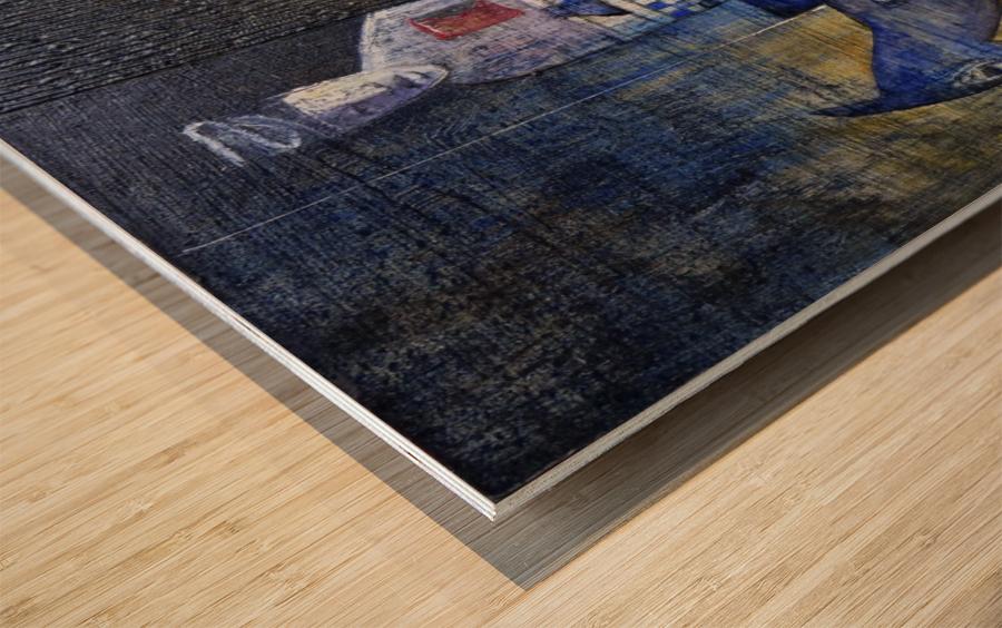 blue horserider 2 Wood print