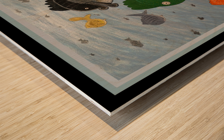 NEVER SEA - ACRYLIC PAINTING Wood print