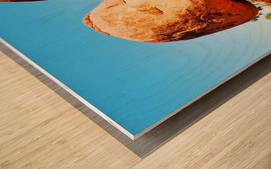 Balance - Devils Marbles Wood print