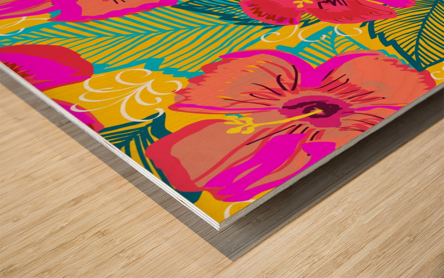 Hiba Wood print