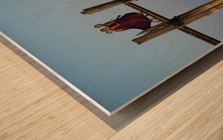 U-bein bridge Myanmar Wood print