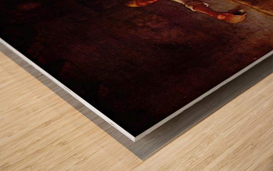 At home Wood print
