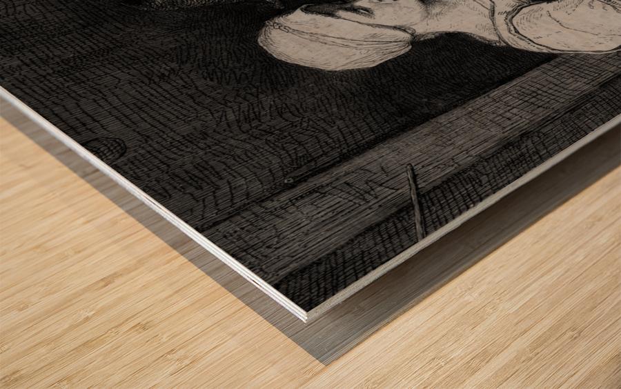 Sheep shearer Wood print