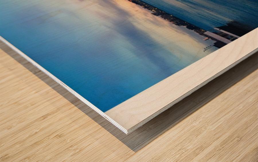 Sky & Sea Wood print