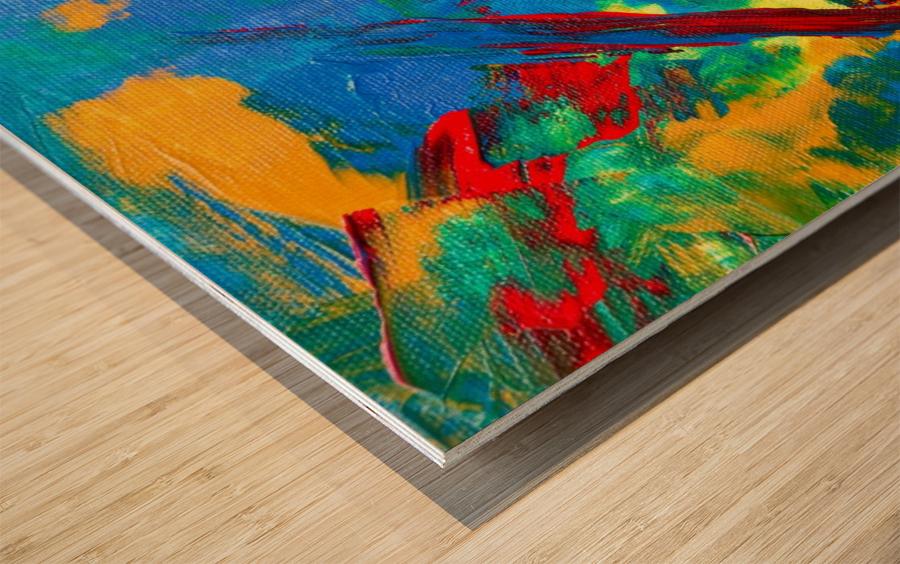 Expressionism Wood print