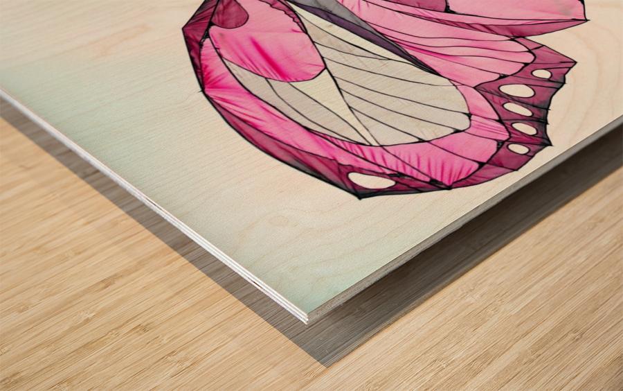 Papillon Wood print