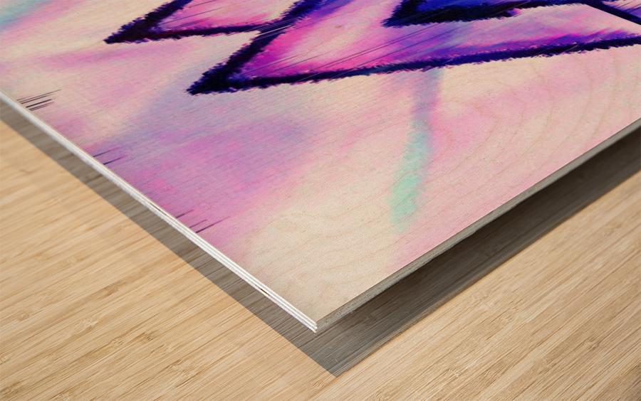 Valknut Light & Colorful Wood print