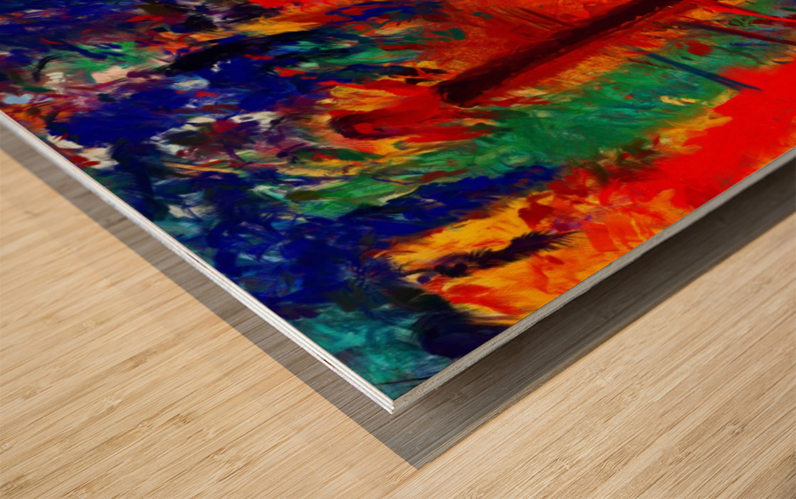 NKL abstract-101 Wood print