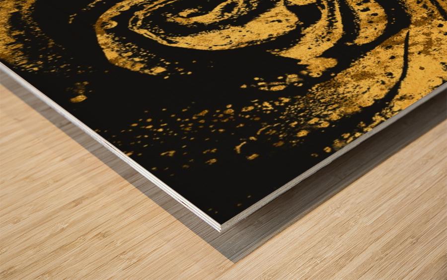 Golden rose Wood print