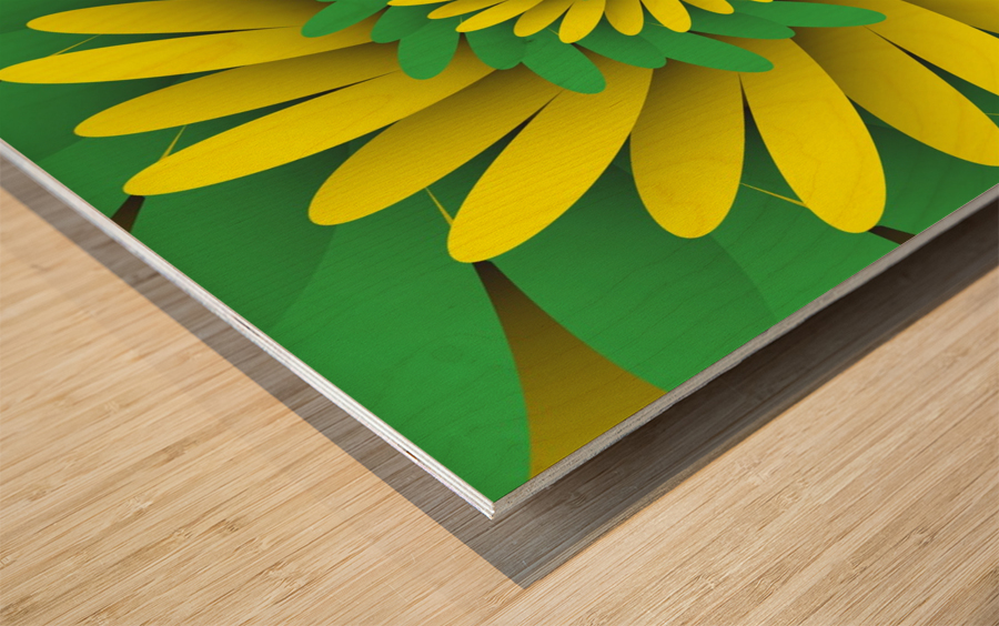 Digital Forest Wood print