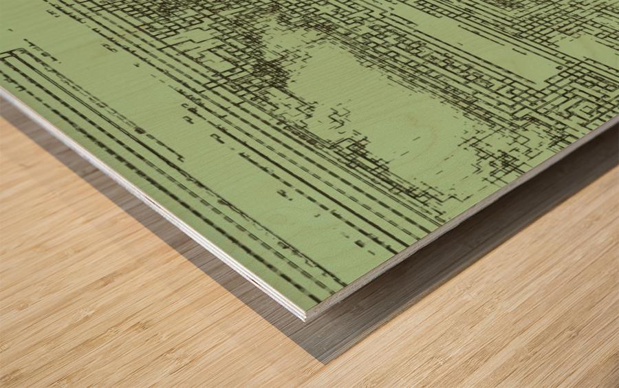 The inner courtyard Wood print