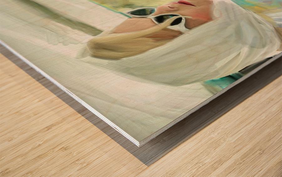 Taking a Drive Wood print