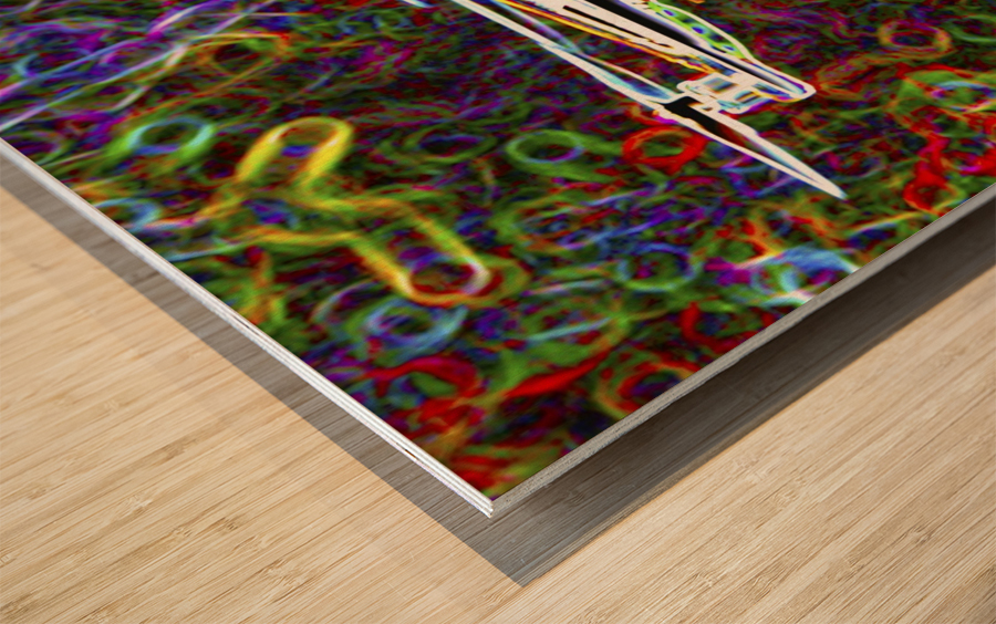 Colorful Quad Copter Wood print