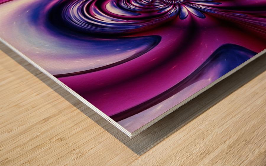 Purple Space Wood print