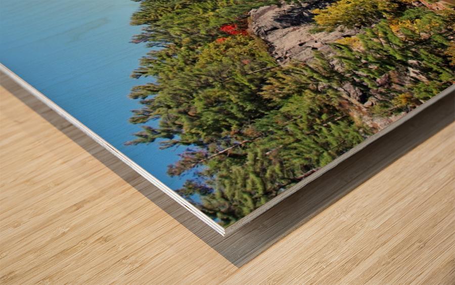Key River Shore In Fall II Wood print