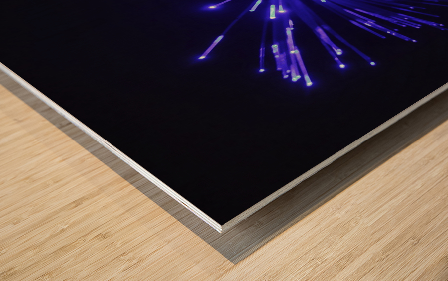 Blue Sparkle Wood print