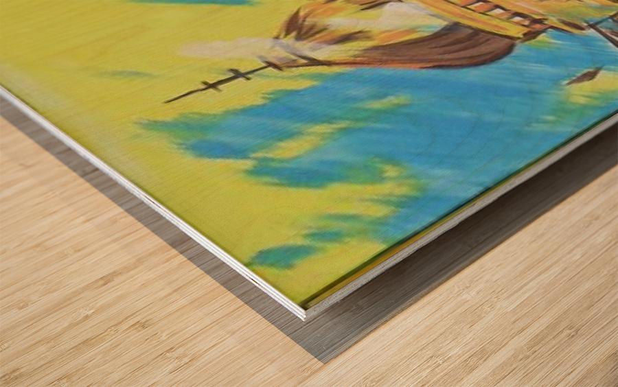 Ahson_Qazi_Geometrical_Islamic abstract artahson_qaziShades_of_DivinityIslamic_Artstretched canvass 12x16 Wood print
