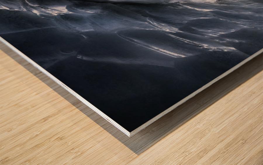 Crevasse Jump Wood print