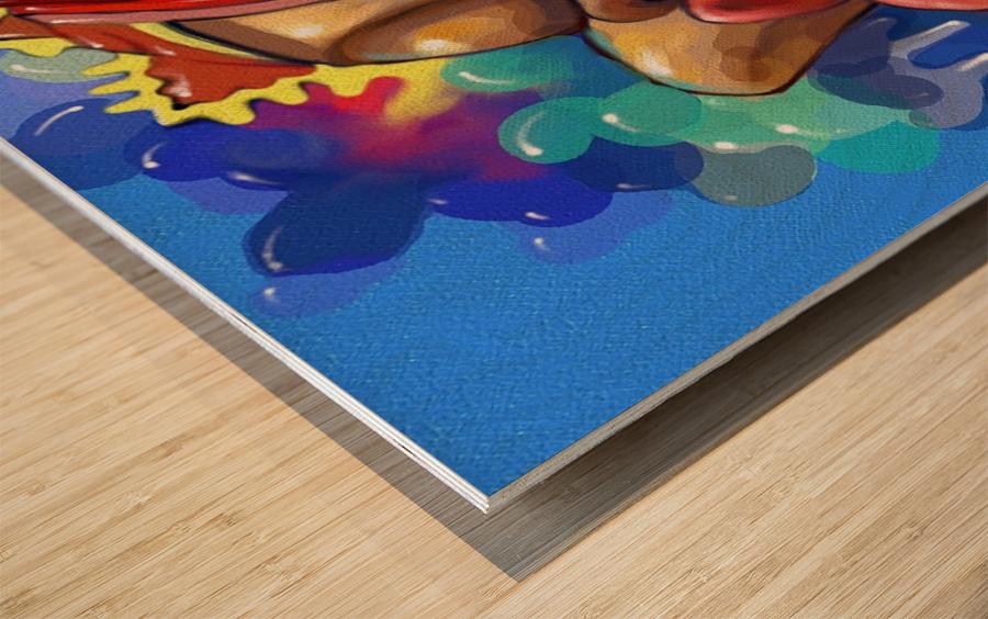 HIN III.x Wood print