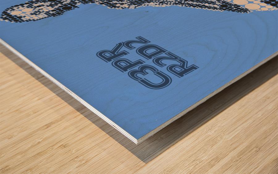 C3PO & R2D2 Wood print