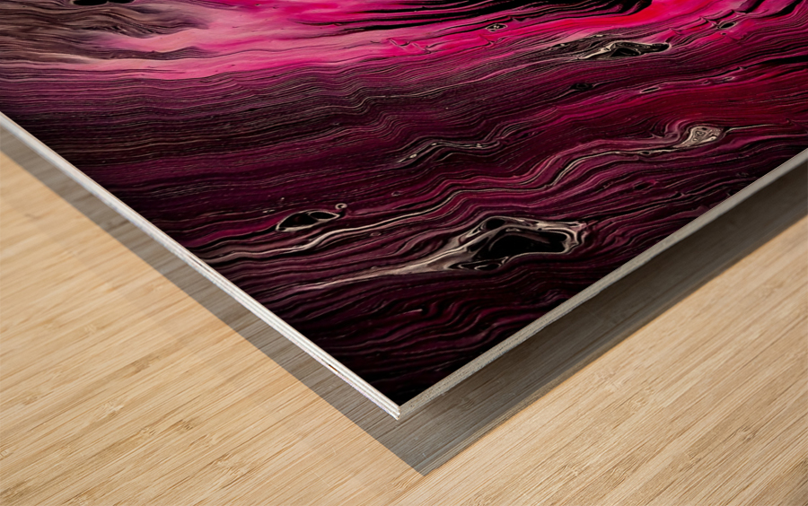 Magenta calling Wood print