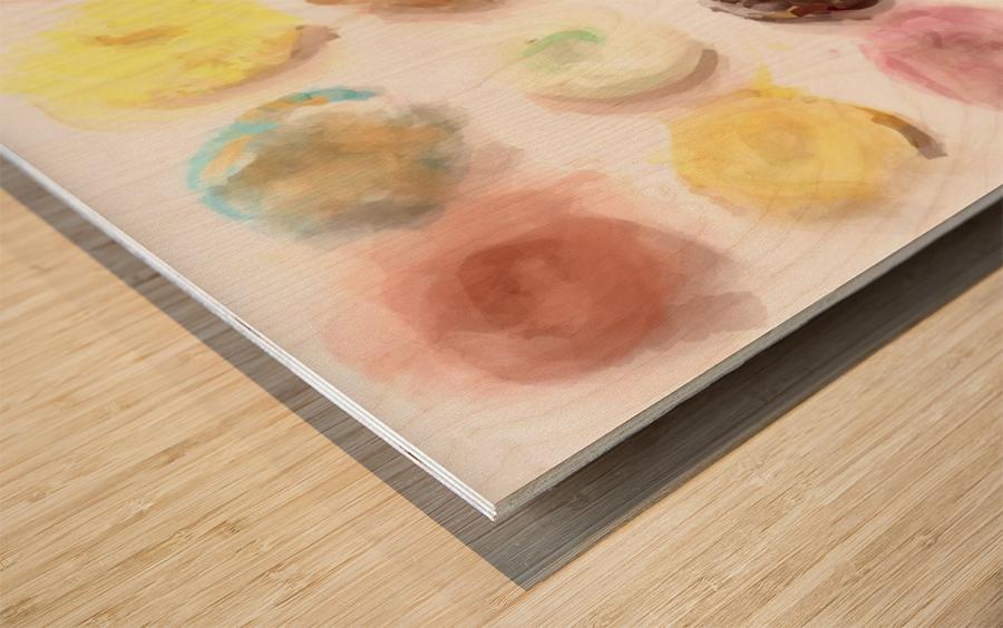 Donut Painting No2 Wood print
