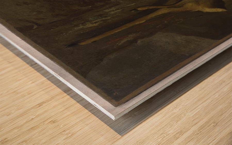 Le chevreuil Wood print