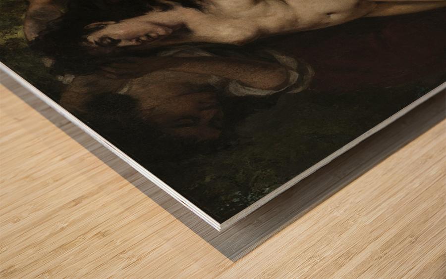 Trois baigneuses Wood print