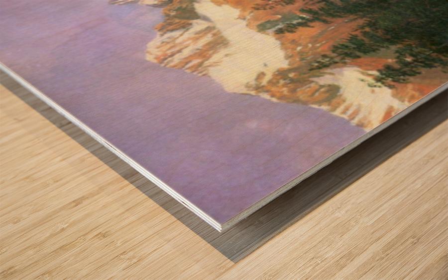 Canadian Rockies by Bierstadt Wood print
