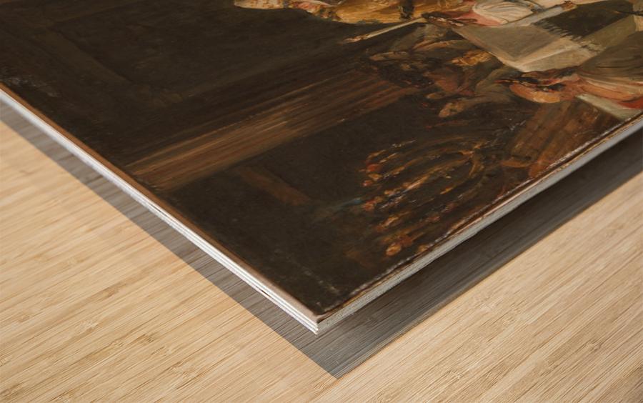 Esquisse pour l eglise Notre Dame de Lorette Consecration de la Vierge Wood print