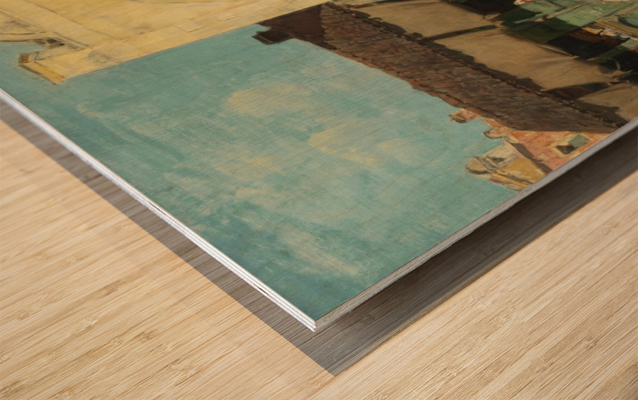 Oriental market Wood print
