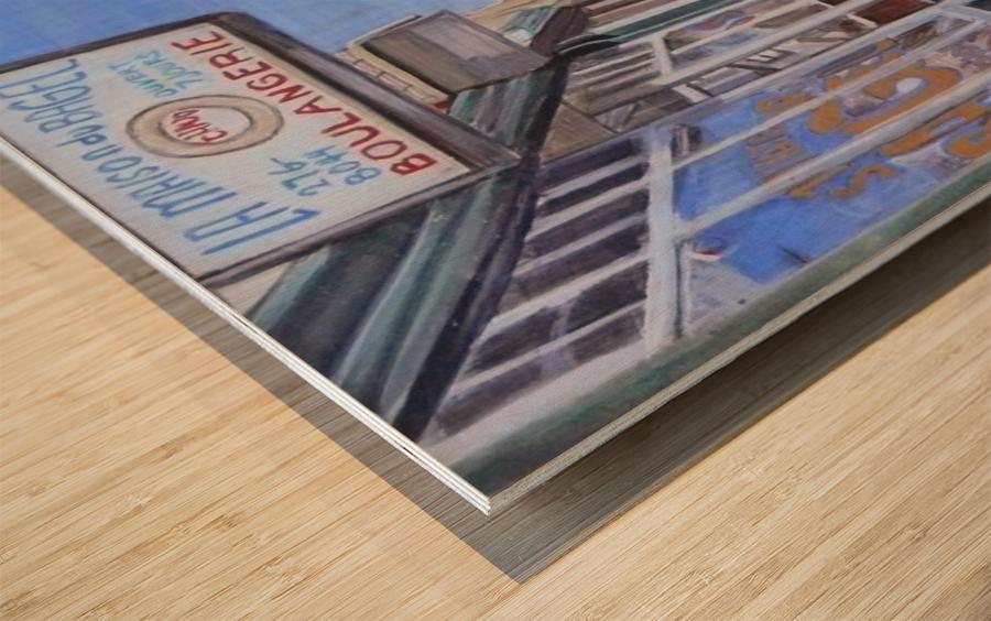 St Viateur Bagel Wood print