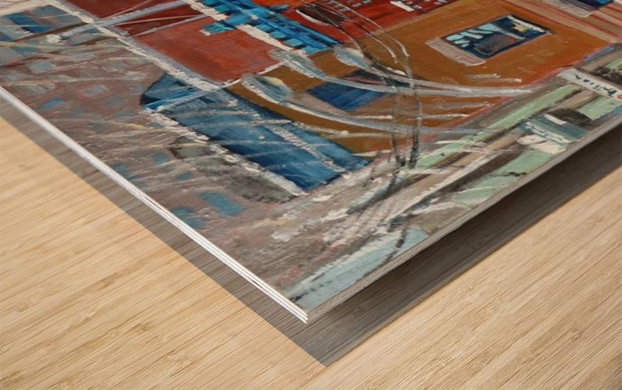 Le Plateau Red House Wood print