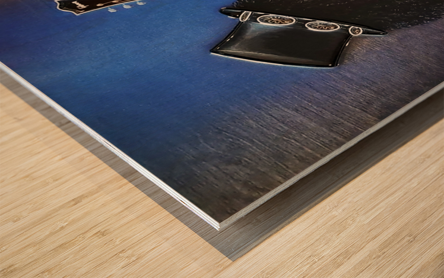 Bent Metal Wood print