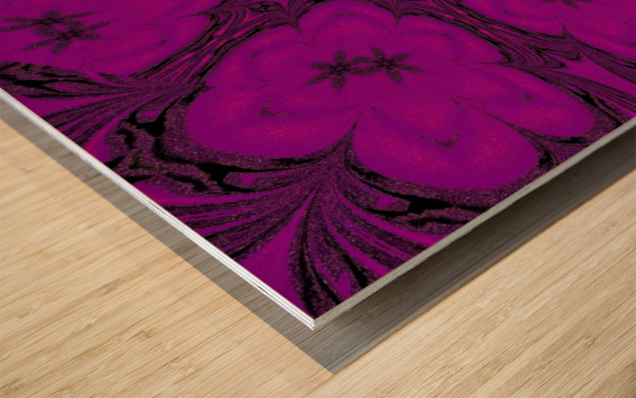 Purple Desert Song 47 Wood print