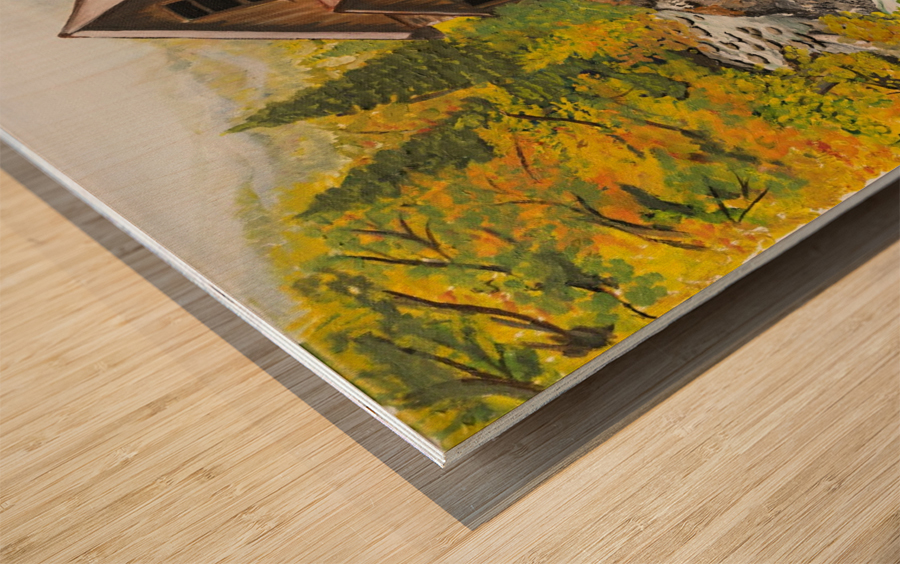 Crystal Hideaway Wood print