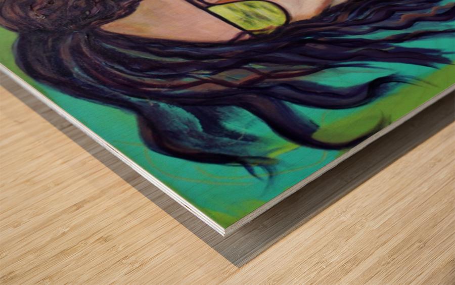 Au Rendez Vous Wood print